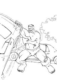 hulk removes cars coloring pages hellokids