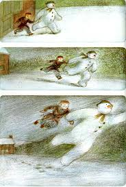 bottom panel of the snowman and the animated version of this was