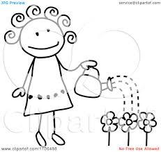 black and white flower garden clipart 2140488