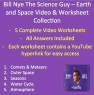 bill nye video worksheets five earth and space worksheet