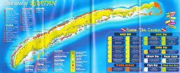 Map Of Roatan Honduras Scuba Dive Travel To The Nicest Places On The Planet Scuba
