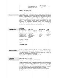 Online Resume Sample by Resume Template Examples Two Page Samples Electromechanical