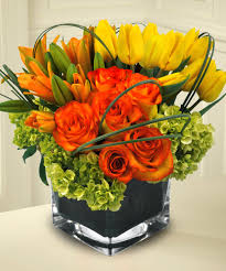 fall flowers beautiful roses tulips mar lilies hydrangea