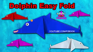 how to make an easy origami dolphin step by step f2book video