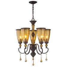 Bronze Chandelier With Crystals Commercial Electric 5 Light Oil Rubbed Bronze Reversible