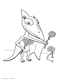 free printable dinosaur train coloring pages kids theotix