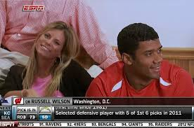 Russell Wilson Wife Meme - russell wilson wife ashton wilson steals spotlight on draft night
