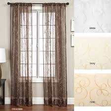 Blackout Curtains 120 Inches Long Softline Angela Ribbon Embroidered 120 Inch Curtain Panel 56 X