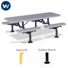 Commercial Picnic Tables And Benches Commercial Picnic Table 7 Ft Spyder Series