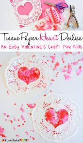 heart doilies tissue paper heart doilies s craft for kids