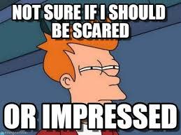 Fry Not Sure Meme - not sure if i should be scared futurama fry meme on memegen