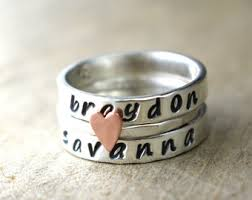 day rings personalized ring etsy