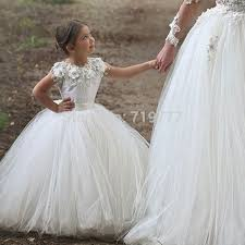 communion dresses aliexpress buy lovely white gown tulle flower girl