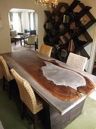 concrete wood table top cheng concrete kitchen counters sinks concrete decor