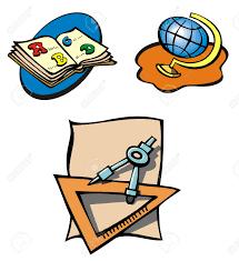 imagenes educativas animadas conjunto de objetos educativos libros globo y la brújula dibujos