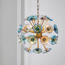 Artistic Chandelier Glass Disc Globe Chandelier