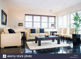 monochromatic living rooms cream sofas with black cushions in monochromatic living room btp