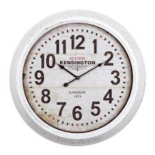 distressed home decor yosemite home decor 24 in circular iron wall clock in distressed