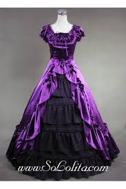 luxuriant purple and black gothic victorian dress cheap