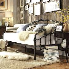 queen folding bed frame details about victorian iron metal daybed