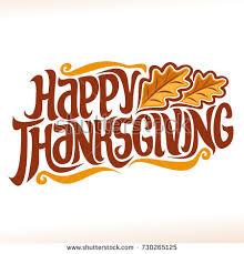 vector logo thanksgiving day fall greeting stock vector 730265146