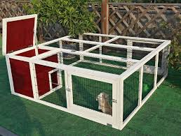 petsfit 63 8 x 23 6 x 63 4 inches outdoor rabbit hutch outdoor