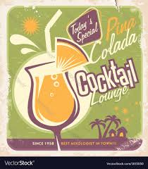 vintage cocktail vector vintage sign cocktail lounge royalty free vector image