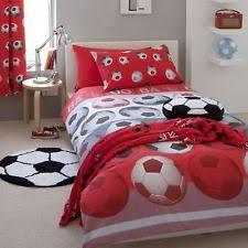 Double Duvet Set Catherine Lansfield Childrens Kids Football Duvet Quilt Cover