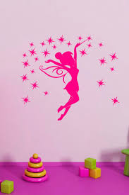 76 best la fee et les etoiles images on pinterest fairy ambiance sticker fuchsia little fairy wall decal set