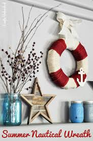 diy burlap wreath summer nautical crafts unleashed