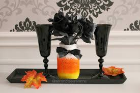 diy fall halloween room decor candy corn mason jar how to