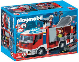 playmobil city action 4821 fire engine amazon co uk toys u0026 games