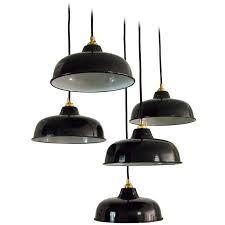 french industrial pendant lighting nos 1950s french industrial enamel factory ceiling ls pendants