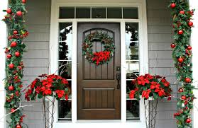 decorations red and green christmas home entrance decoration