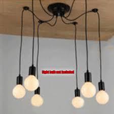 vintage multiple ajustable diy ceiling spider lamp light pendant