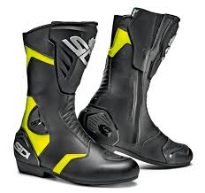 short motorbike boots sidi black rain boots yellow black 30 free spend free uk