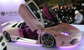 pink lamborghini car pink swarovski studded lamborghini pimped up rides and a