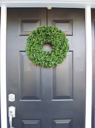artificial boxwood wreath 16 inch front door by elegantholidays