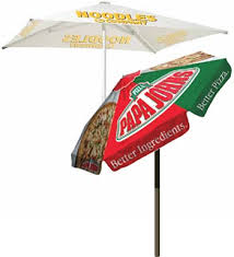 Custom Patio Umbrellas Custom Printed Patio Umbrellas In Two Styles
