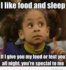 Girl On Girl Memes - funny girl meme i like food and sleep picture for whatsapp