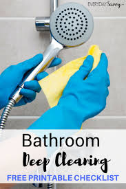 deep clean bathroom clean u0026 organize tasks printable cleaning