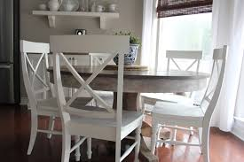 pottery barn kitchen furniture kitchen table refinishing dining table with chalk paint how to
