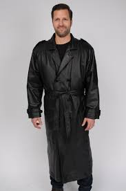 Big And Tall For Mens Clothes Excelled Men U0027s Big And Tall Leather Trench Coat Online Exclusive