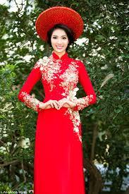 ao dai cuoi dep xu hướng áo dài cưới đẹp nhất năm nay