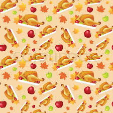 happy thanksgiving day seamless pattern autumn traditional