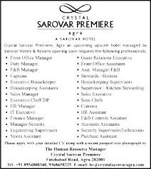 job housekeeping supervisor agra hospitality u0026 tourism