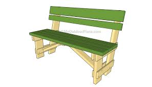 Patio Furniture Plans by Plans For Outdoor Bench