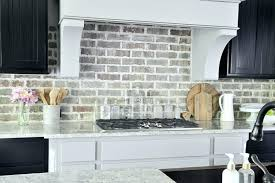 brick backsplash kitchen grey brick backsplash great gray brick tile with regard to kitchen
