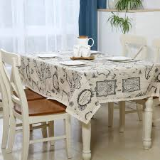 wedding table covers printed world maps table cover linen rectangular white tablecloth