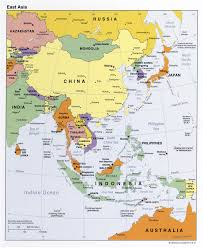 Monsoon Asia Map Download Eastern Asia Map Major Tourist Attractions Maps